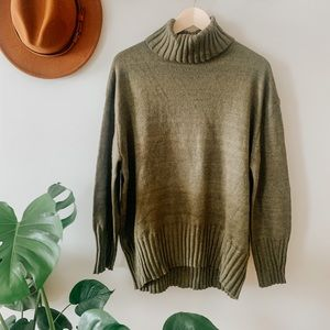 A New Day Olive Green Turtleneck Sweater ✨
